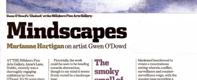 'Mindscapes', Sunday Tribune; by Marianne Hartigan