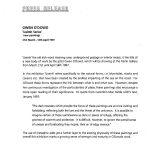 Press Release, 'Uaimh Series', Kerlin, 1997